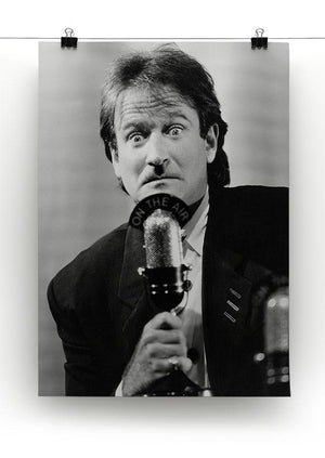 Robin Williams at the microphone Canvas Print or Poster - Canvas Art Rocks - 2