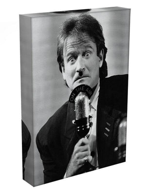 Robin Williams at the microphone Canvas Print or Poster - Canvas Art Rocks - 3