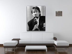 Robin Williams at the microphone Canvas Print or Poster - Canvas Art Rocks - 4