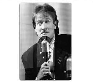 Robin Williams at the microphone HD Metal Print