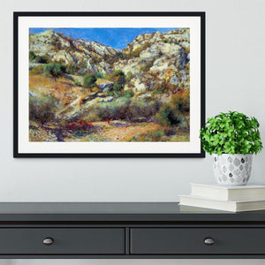Rocks at LEstage by Renoir Framed Print - Canvas Art Rocks - 1