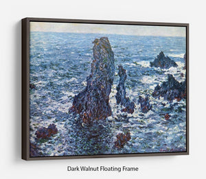 Rocks on Belle Ile The needles of Port Coton by Monet Floating Frame Canvas