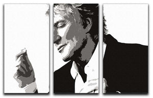 Rod Stewart 3 Split Panel Canvas Print - Canvas Art Rocks - 1
