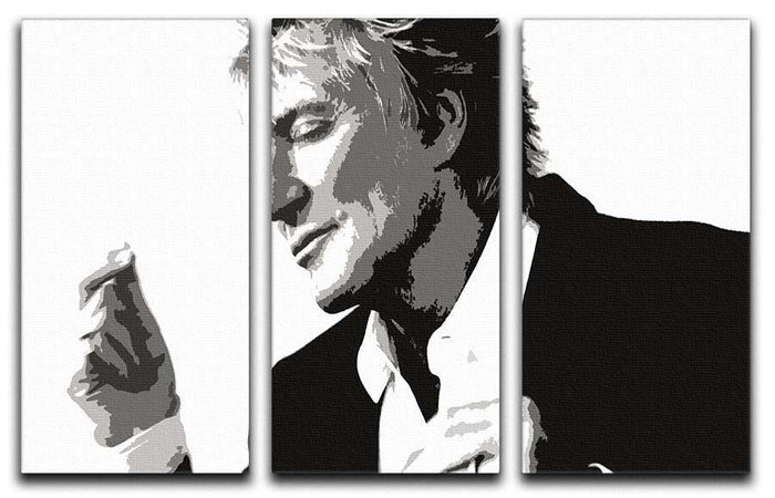 Rod Stewart 3 Split Panel Canvas Print