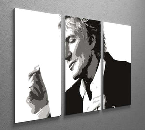 Rod Stewart 3 Split Panel Canvas Print - Canvas Art Rocks - 2