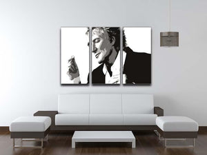 Rod Stewart 3 Split Panel Canvas Print - Canvas Art Rocks - 3
