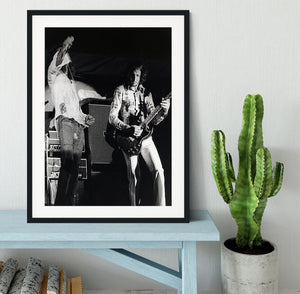 Roger Daltrey and Pete Townshend at Forest Hills Tennis Stadium Framed Print - Canvas Art Rocks - 1
