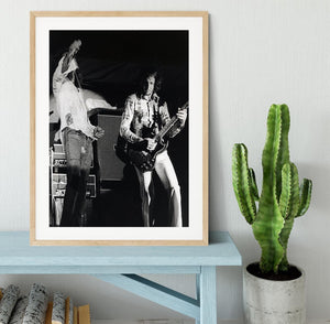 Roger Daltrey and Pete Townshend at Forest Hills Tennis Stadium Framed Print - Canvas Art Rocks - 3