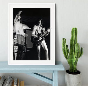 Roger Daltrey and Pete Townshend at Forest Hills Tennis Stadium Framed Print - Canvas Art Rocks - 5