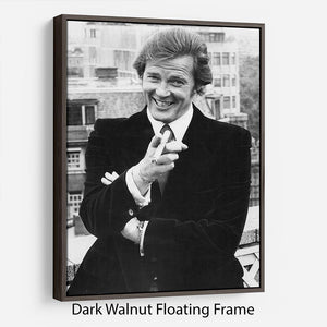 Roger Moore in 1972 Floating Frame Canvas - Canvas Art Rocks - 5
