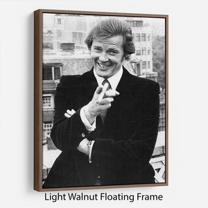 Roger Moore in 1972 Floating Frame Canvas - Canvas Art Rocks - 7