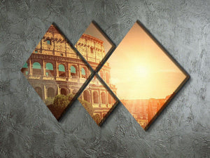 Roman Coliseum 4 Square Multi Panel Canvas  - Canvas Art Rocks - 2