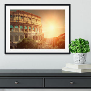 Roman Coliseum Framed Print - Canvas Art Rocks - 1