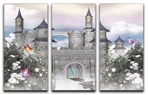 Romantic castle 3 Split Panel Canvas Print - Canvas Art Rocks - 1