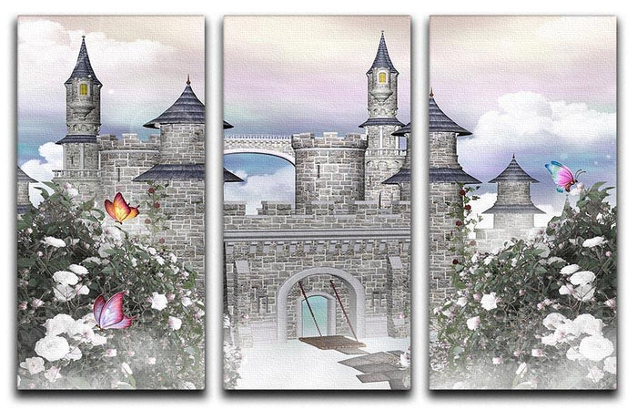 Romantic castle 3 Split Panel Canvas Print