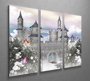 Romantic castle 3 Split Panel Canvas Print - Canvas Art Rocks - 2
