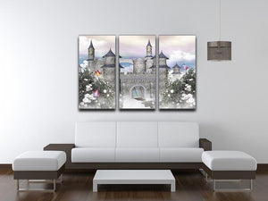Romantic castle 3 Split Panel Canvas Print - Canvas Art Rocks - 3