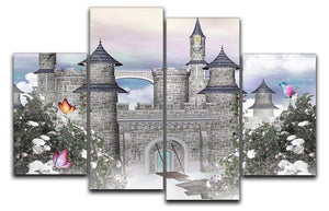Romantic castle 4 Split Panel Canvas  - Canvas Art Rocks - 1