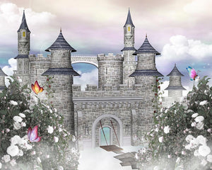 Romantic castle Wall Mural Wallpaper - Canvas Art Rocks - 1