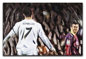 Ronaldo Vs Messi Print - Canvas Art Rocks - 1
