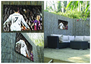 Ronaldo Vs Messi Outdoor Metal Print - Canvas Art Rocks - 2