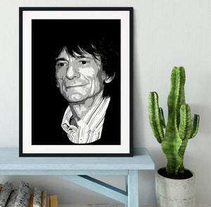 Ronnie Wood The Rolling Stones Pop Art Framed Print - Canvas Art Rocks - 1