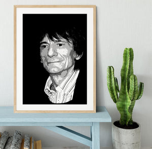 Ronnie Wood The Rolling Stones Pop Art Framed Print - Canvas Art Rocks - 3