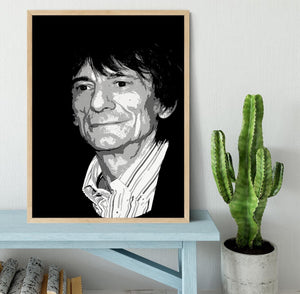 Ronnie Wood The Rolling Stones Pop Art Framed Print - Canvas Art Rocks - 4