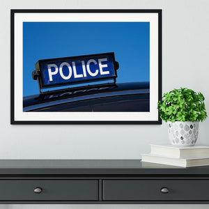Rooftop sign on a vintage british police car Framed Print - Canvas Art Rocks - 1