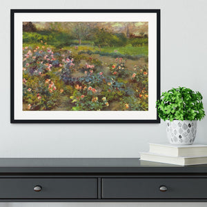 Rose Garden by Renoir Framed Print - Canvas Art Rocks - 1