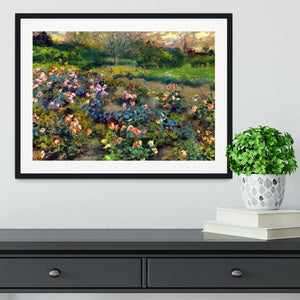 Rose grove by Renoir Framed Print - Canvas Art Rocks - 1
