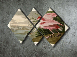 Roseate Spoonbill by Audubon 4 Square Multi Panel Canvas - Canvas Art Rocks - 2