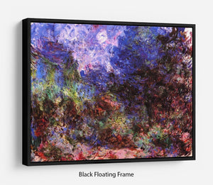 Roses at the garden side of Monets house in Giverny by Monet Floating Frame Canvas