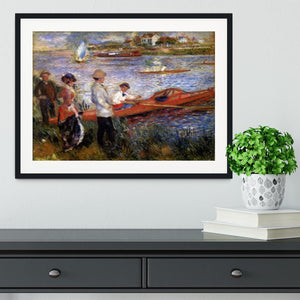 Rowers from Chatou by Renoir Framed Print - Canvas Art Rocks - 1
