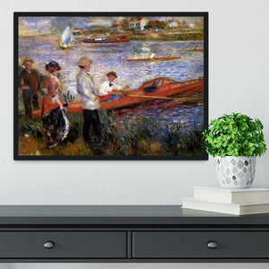 Rowers from Chatou by Renoir Framed Print - Canvas Art Rocks - 2
