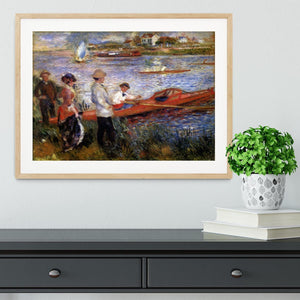 Rowers from Chatou by Renoir Framed Print - Canvas Art Rocks - 3
