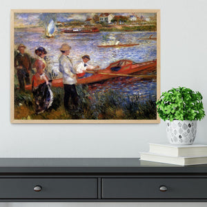 Rowers from Chatou by Renoir Framed Print - Canvas Art Rocks - 4