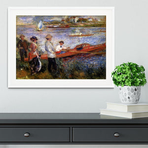 Rowers from Chatou by Renoir Framed Print - Canvas Art Rocks - 5