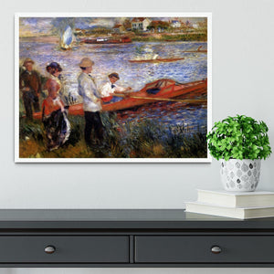 Rowers from Chatou by Renoir Framed Print - Canvas Art Rocks -6