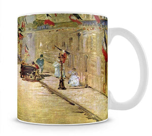 Rue Mosnier with Flags by Manet Mug - Canvas Art Rocks - 1