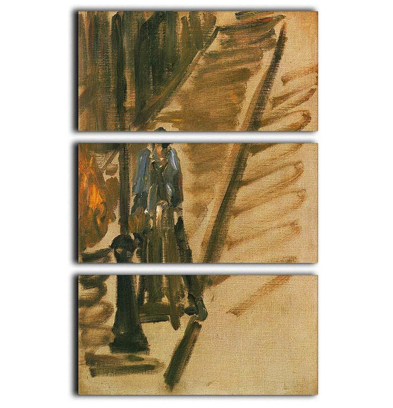 Rue Mossnier with Knife Grinder by Manet 3 Split Panel Canvas Print - Canvas Art Rocks - 1