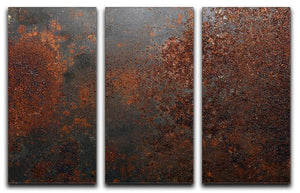 Rusted metal background 3 Split Panel Canvas Print - Canvas Art Rocks - 1