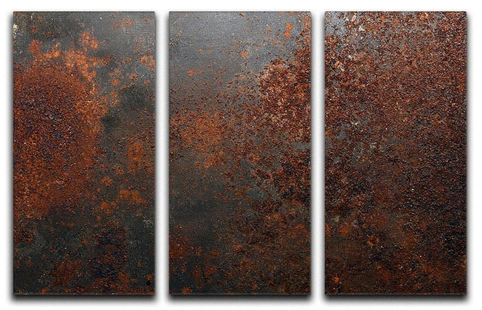 Rusted metal background 3 Split Panel Canvas Print