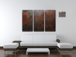 Rusted metal background 3 Split Panel Canvas Print - Canvas Art Rocks - 3