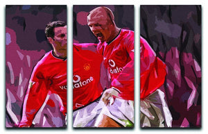 Ryan Giggs and David Beckham 3 Split Panel Canvas Print - Canvas Art Rocks - 1