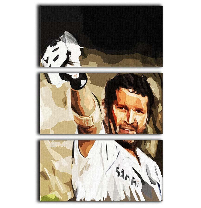 Sachin Tendulkar 3 Split Panel Canvas Print