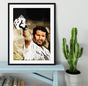 Sachin Tendulkar Framed Print - Canvas Art Rocks - 1