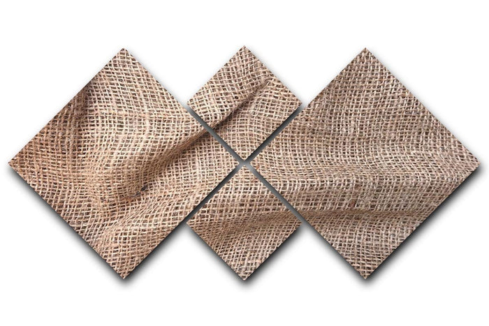 Sackcloth textured 4 Square Multi Panel Canvas