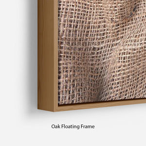 Sackcloth textured Floating Frame Canvas