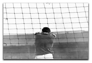Sad Goalkeeper Canvas Print or Poster  - Canvas Art Rocks - 1